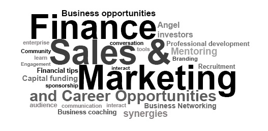 sales, marketing, finance, angel funding, family office
